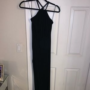 Maxi halter dress with 2 front/side slits